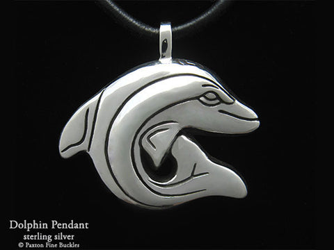 Dolphin Pendant Necklace sterling silver