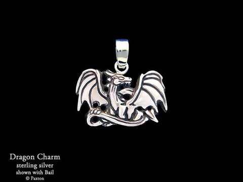 Dragon Charm Necklace sterling silver