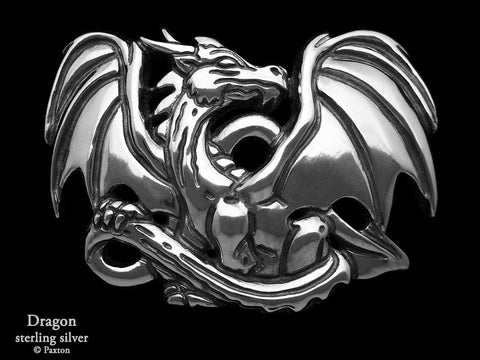 Dragon Belt Buckle sterling silver