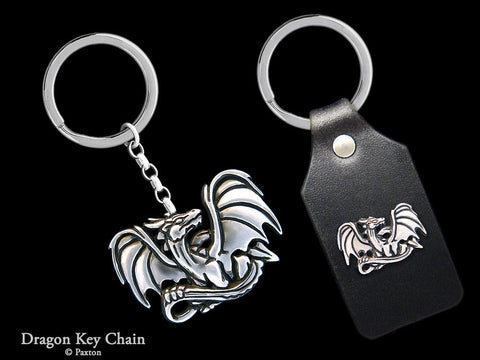 Dragon Key Chain Sterling Silver