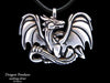 Dragon Pendant Necklace sterling silver