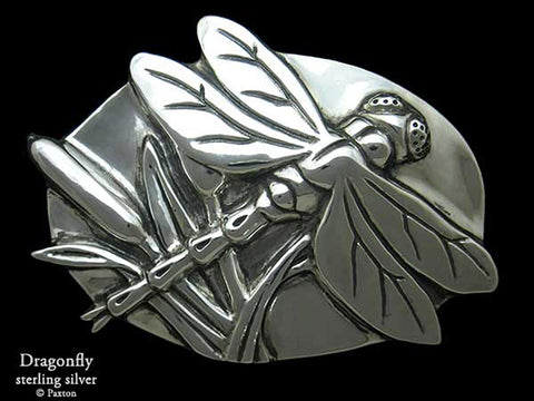 Dragonfly Belt Buckle sterling silver