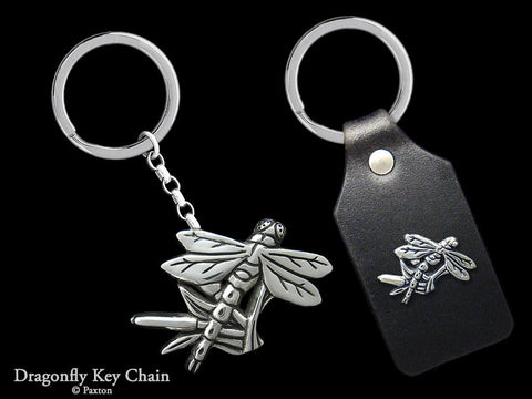 Dragonfly Key Chain Sterling Silver