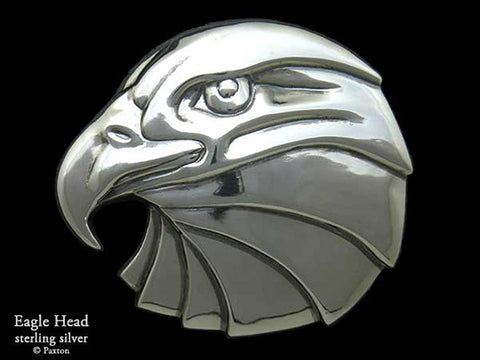 Eagle Head Belt Buckle sterling silver