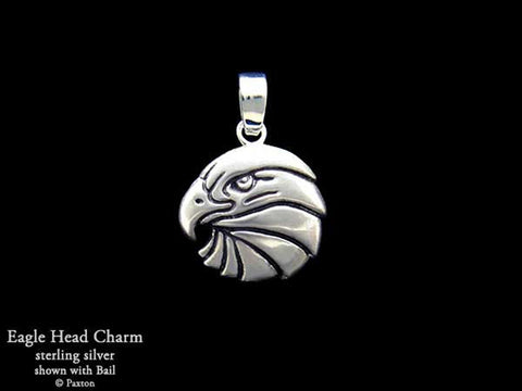 Eagle Head Charm Necklace sterling silver