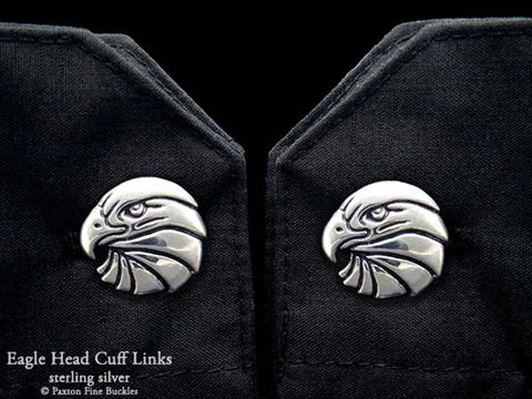 Eagle Head Cuff Links sterling silver