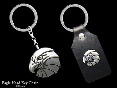 Eagle Head Key Chain Sterling Silver