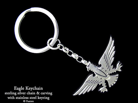 Eagle Key Chain Sterling Silver