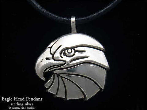 Eagle Head Pendant Necklace sterling silver