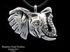 Elephant Head Pendant Necklace sterling silver