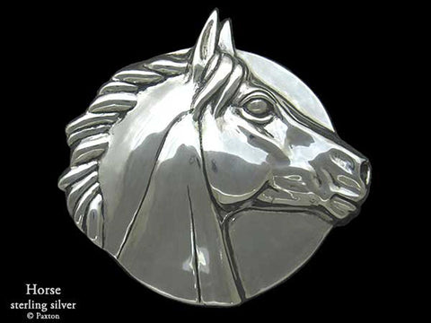 Horse Head Belt Buckle sterling silver