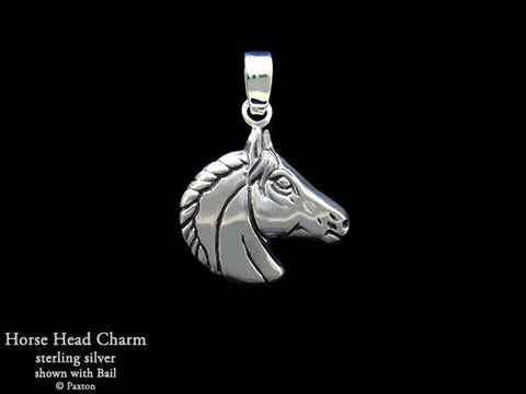 Horse Head charm necklace sterling silver