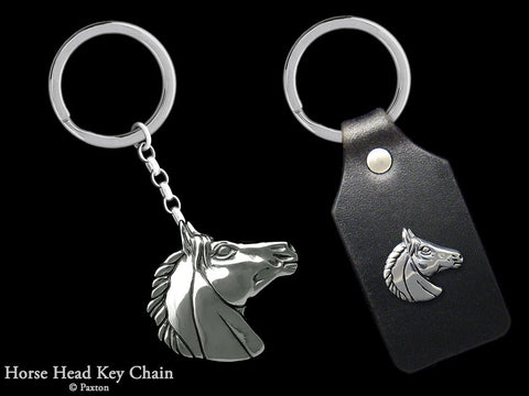 Horse Head Key Chain Sterling Silver
