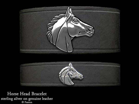Horse Head on Leather Bracelet