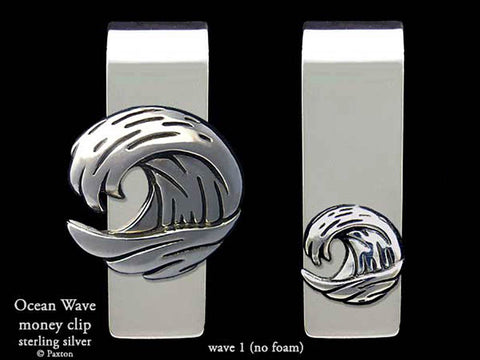 Ocean Wave #1 no foam Money Clip