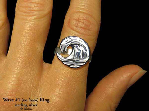 Ocean Wave #1 ring sterling silver