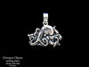 Octopus charm necklace sterling silver