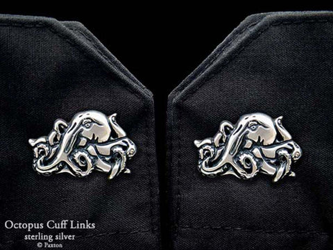 Octopus Cuff Links sterling silver