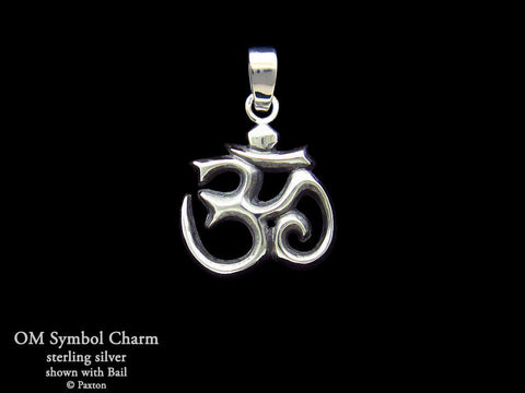 OM Symbol Charm Necklace sterling silver