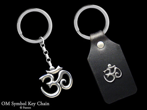 OM Symbol Key Chain Sterling Silver