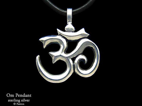 OM Symbol Pendant Necklace sterling silver