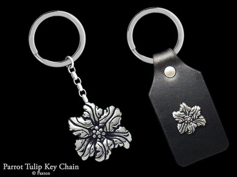Parrot Tulip Key Chain Sterling Silver