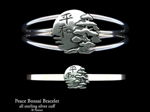 Peace Bonsai Cuff Bracelet