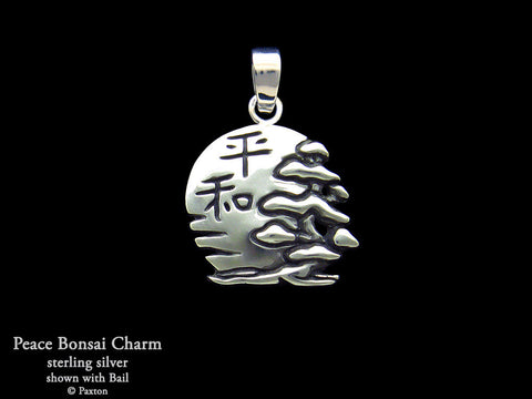Peace Bonsai Charm Necklace sterling silver