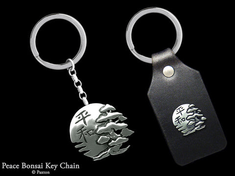Peace Bonsai Key Chain Sterling Silver