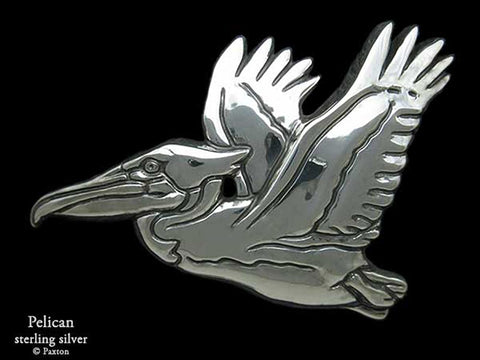 Pelican Belt Buckle sterling silver