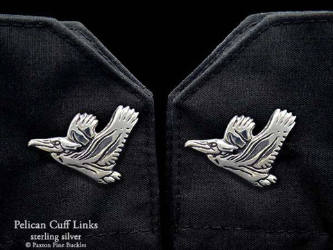Pelican Cuff Links sterling silver