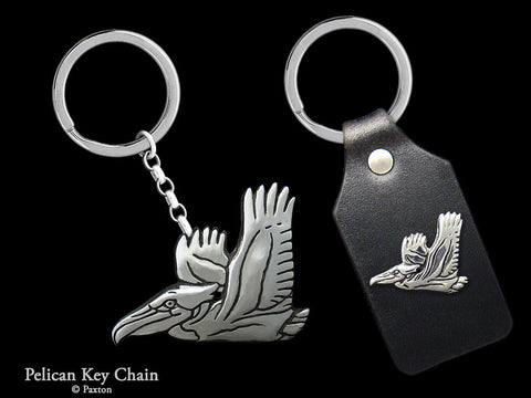 Pelican Key Chain Sterling Silver