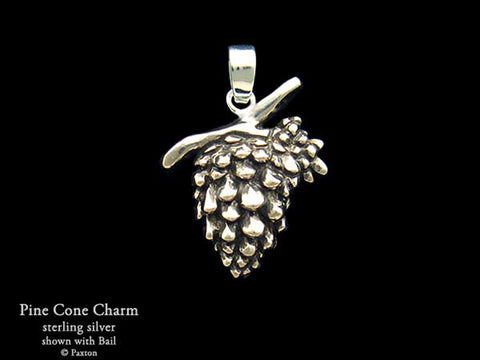 Pine Cone Charm Necklace sterling silver