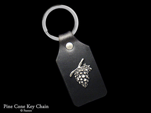 Pine Cone Key Chain Sterling Silver