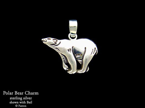 Polar Bear Charm Necklace sterling silver