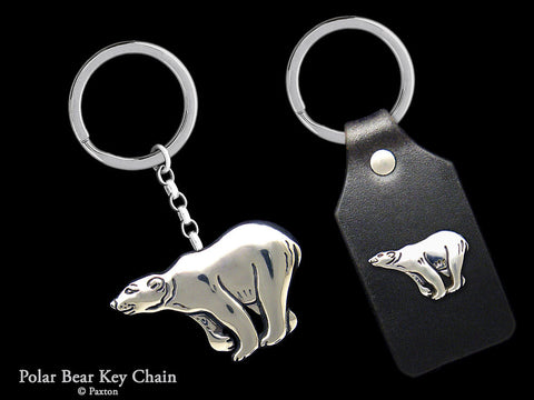 Polar Bear Key Chain Sterling Silver
