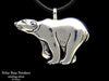 Polar Bear Pendant Necklace sterling silver