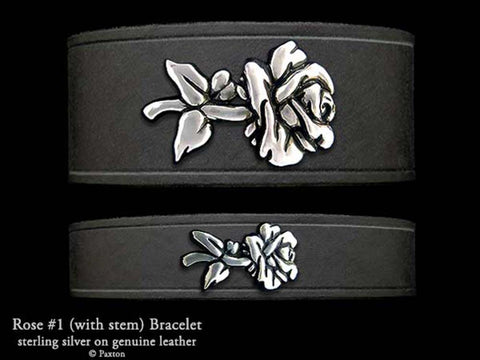 Rose #1 on Leather Bracelet