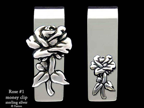 Rose #1 with stem Money Clip