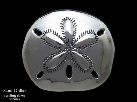 Sand Dollar Belt Buckle sterling silver