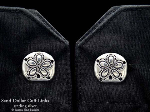 Sand Dollar Cuff Links sterling silver