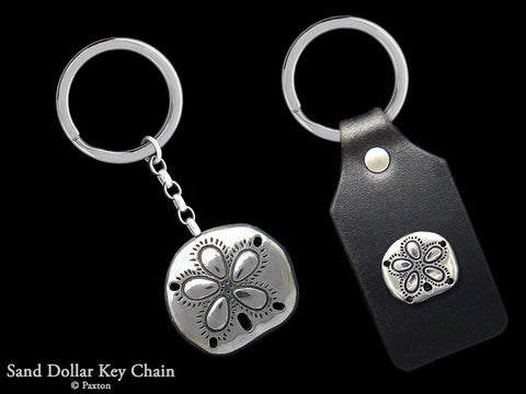 Sand Dollar Key Chain Sterling Silver