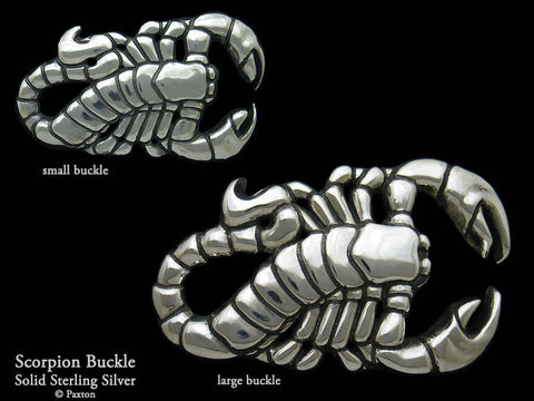Scorpion Belt Buckle sterling silver
