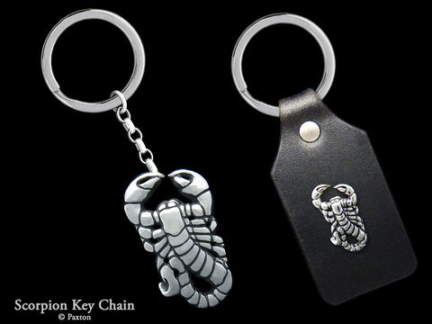 Scorpion Key Chain Sterling Silver