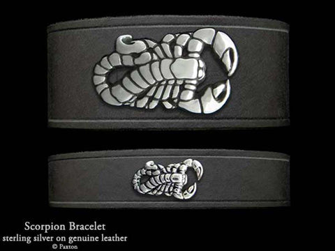 Scorpion on Leather Bracelet
