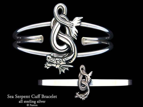Sea Serpent Cuff Bracelet