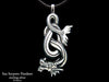Sea Serpent Pendant Necklace sterling silver