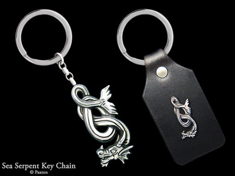 Sea Serpent Key Chain Sterling Silver