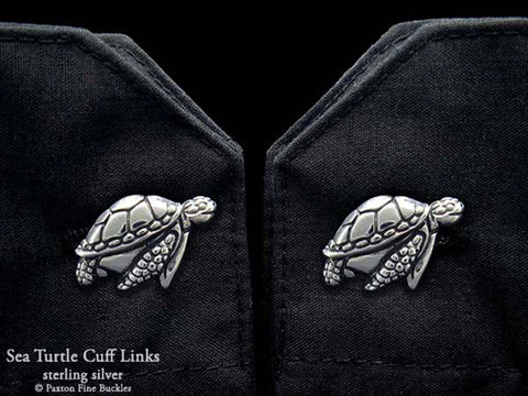 Sea Turtle Cuff Links sterling silver