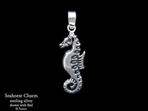Seahorse Charm Necklace sterling silver